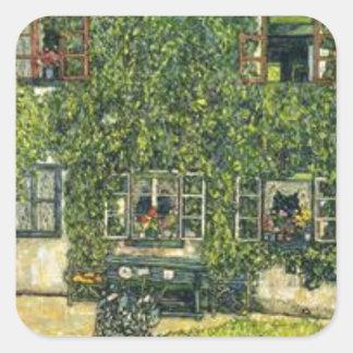Sticker Carré Gustav Klimt - la Chambre de Guardaboschi