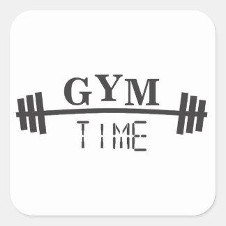 Sticker Carré Gym Time