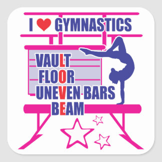 Sticker Carré Gymnastique