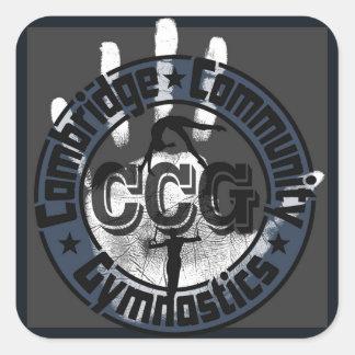 Sticker Carré Gymnastique de la Communauté de Cambridge - logo