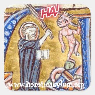 Sticker Carré Ha ! avec le diable