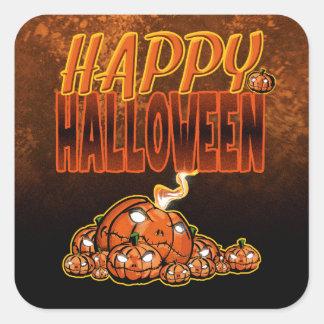 Sticker Carré Halloween heureux