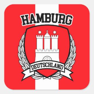 Sticker Carré Hambourg
