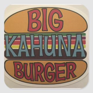 Sticker Carré Hamburger de Kahuna