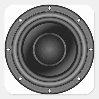 Sticker Carré Haut-parleur bruyant
