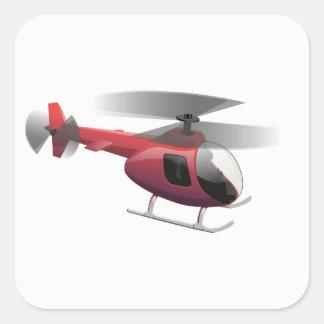 Sticker Carré Hélicoptère