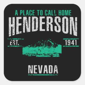 Sticker Carré Henderson