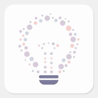 Sticker Carré Hexahedrons à l'intérieur d'ampoule d'idée