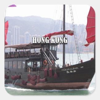 Sticker Carré Hong Kong : Ordure chinoise