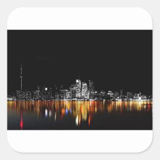 Sticker Carré Horizon de Toronto