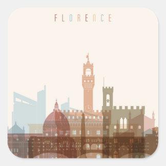 Sticker Carré Horizon de ville de Florence, Italie |