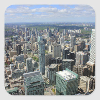 Sticker Carré Horizon de ville de Toronto
