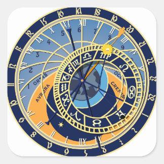 Sticker Carré Horloge astrologique de Prague