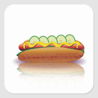 Sticker Carré hot-dog