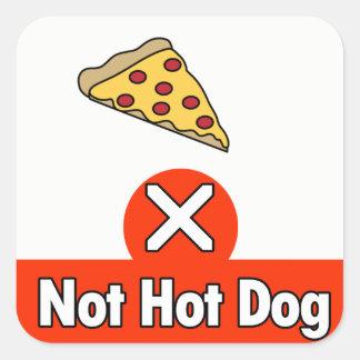 Sticker Carré Hot-dog