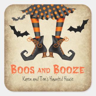 Sticker Carré Hue et partie adulte de Halloween de boissons