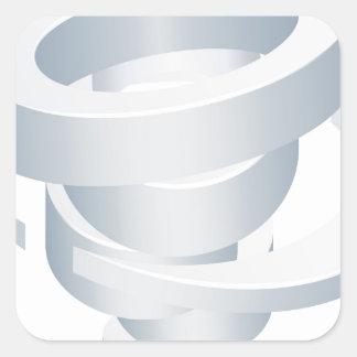 Sticker Carré Icône de la tornade 3d d'ouragan de cyclone de