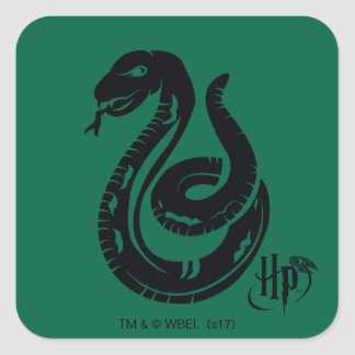Sticker Carré Icône de serpent de Harry Potter | Slytherin