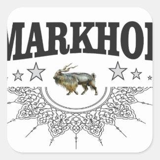 Sticker Carré illustration de bête de zoo