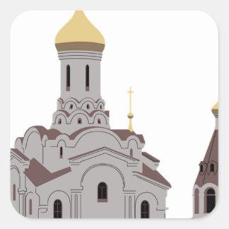 Sticker Carré Illustration de cathédrale