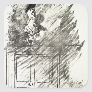 Sticker Carré Illustration de Manet | pour 'le Raven
