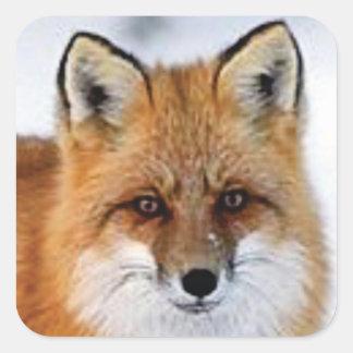 Sticker Carré image de fantaisie de renard
