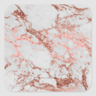 Sticker Carré Image rose de texture de marbre de scintillement