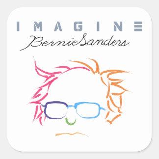 Sticker Carré Imaginez les ponceuses de Bernie