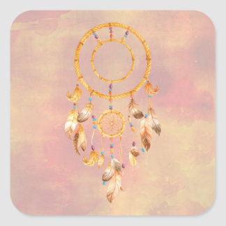 Sticker Carré Indien Dreamcatcher