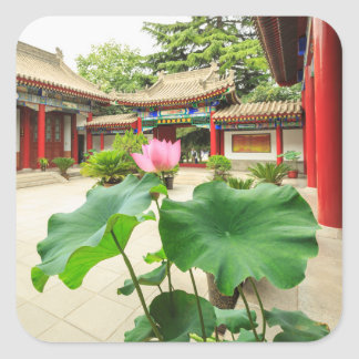 Sticker Carré Intérieur de pagoda de la Chine