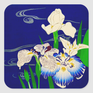 Sticker Carré Iris japonais