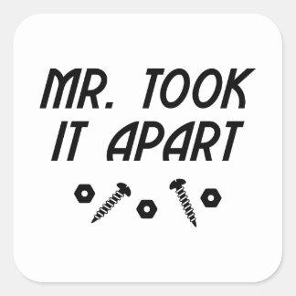Sticker Carré It Apart de M. Took