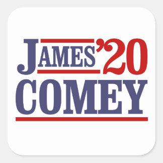 Sticker Carré James Comey pour le président 2020 -