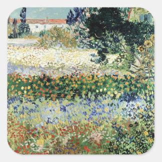 Sticker Carré Jardin de Vincent van Gogh | en fleur, Arles, 1888