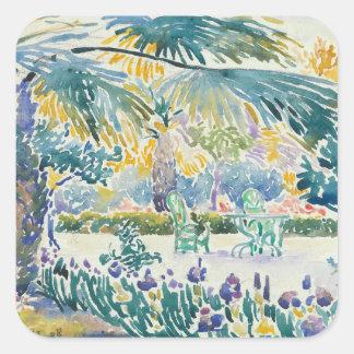 Sticker Carré Jardin du peintre au saint Clair