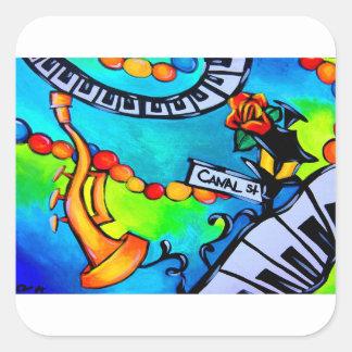 Sticker Carré Jazz de St de canal