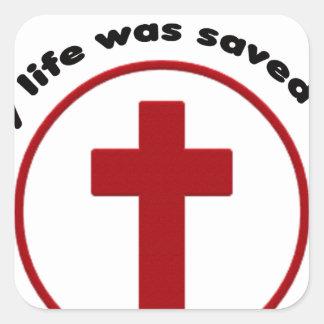 Sticker Carré Jésus économise, T-shirt chrétien de cadeau de