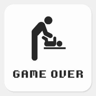 Sticker Carré Jeu de changement de couche-culotte de père plus