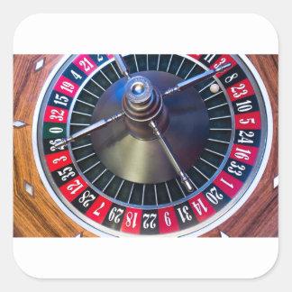 Sticker Carré Jeu de roulette