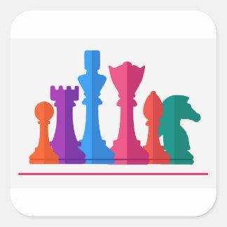 Sticker Carré Jeu d'échecs