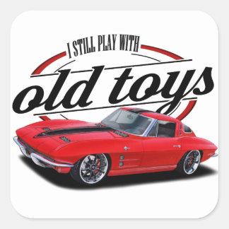 Sticker Carré Jeux toujours avec corvette
