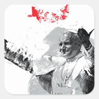Sticker Carré John Paul le deuxième