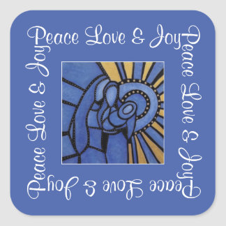 Sticker Carré Joie sainte moderne d'amour de paix de famille de