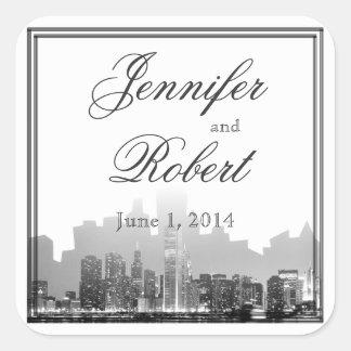 Sticker Carré Joint d'enveloppe de mariage de destination de