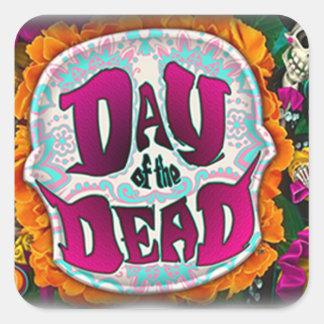 Sticker Carré Jour des morts
