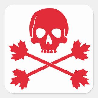 Sticker Carré Jour du Canada
