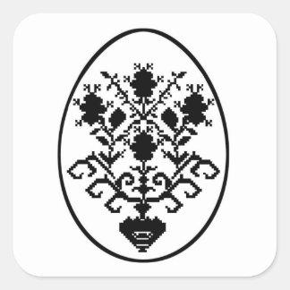 Sticker Carré Joyeuses Pâques !