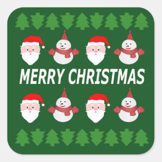 Sticker Carré Joyeux Noël