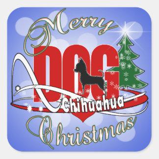 Sticker Carré Joyeux Noël de chiwawa
