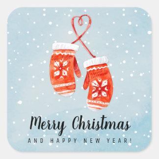 Sticker Carré Joyeux Noël et bonne année